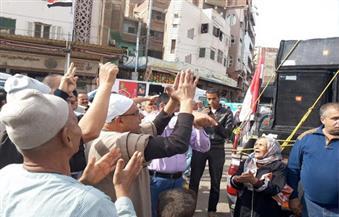 """بالصور.. رفضوا دعوات التظاهر.. مظاهرة تأييد لـ """"السيسى"""" في ساحة """"السيد البدوى"""" بطنطا"""
