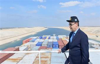 بالصور.. مميش على متن سفينة بنمية: نطمئن العالم بأن قناة السويس مؤمنة برًا وبحرًا وجوًا