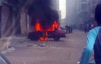 مصرع 3 مواطنين فى تفحم سيارة ملاكى بالبحيرة