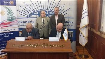 بالصور..جمعية رجال أعمال الإسكندرية توقع برتوكول تعاون مع الروتاري لمكافحة فيرس سي