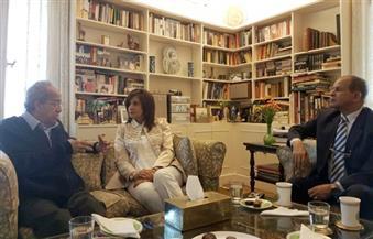 """وزيرة الهجرة تبحث جدولة الضرائب للمصريين بالخارج مع الخبير الاقتصادي """"جلال أمين"""""""
