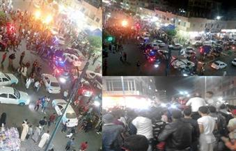 """احتفالات جماهيرية في شوارع """"مطروح"""" بفوز المنتخب على غانا"""