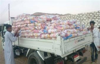 بالصور.. ضبط 9 أطنان أرز مدعم بمخزن تاجر بمدينة كوم أمبو في أسوان