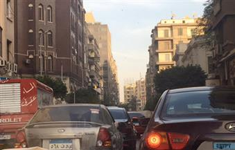 بالصور.. النشرة المرورية للعاصمة: كثافات عالية بمعظم الطرق دون وجود معوقات