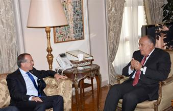 وزير الخارجية يستقبل مبعوث الأمم المتحدة لليبيا