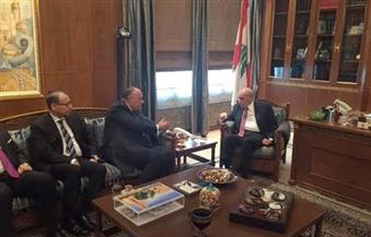 """رئيس البرلمان اللبناني لـ """"شكري"""": العالم العربي يحتاج دائمًا إلى مصر القوية الداعمة"""