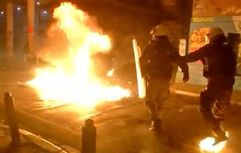 بالفيديو.. اشتباكات في أثينا بين الشرطة ومحتجين على زيارة أوباما لليونان