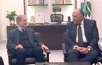 وزير الخارجية يلتقي قيادات القوي السياسية اللبنانية خلال زيارته بيروت
