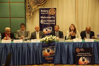 وزير الشباب يلتقي أعضاء نادي روتارى 6 أكتوبر