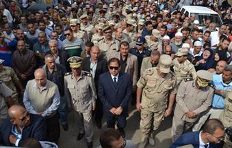 """بالصور.. أهالى """"محلة مرحوم"""" بطنطا يشيعون جثمان المجند عبد الرحمن رضوان شهيد إرهاب سيناء"""