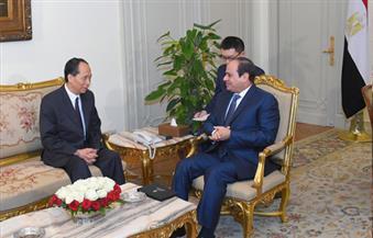 السيسى يستقبل نائب رئيس اللجنة الدائمة للمجلس الوطنى لنواب الشعب الصينى