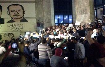 إجراءات أمنية مشددة تزامنًا مع وقفة احتجاجية للصحفيين