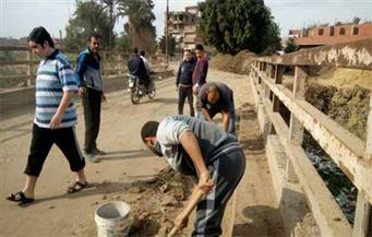 """بالصور.. بعد ضبط سيارات حكومية تلقي القمامة بالشوارع.. شباب""""الصنافين"""" يطلقون حملة """"هنظفها"""" بالشرقية"""