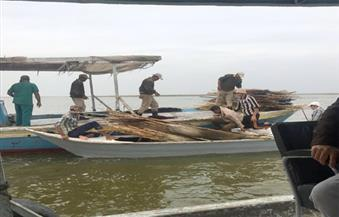 ضبط 164 حالة تعدٍ وصيد مخالف في حملة أمنية علي بحيرة البرلس بكفرالشيخ