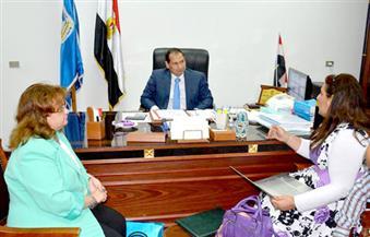 """""""شمس الدين"""" يبحث التعاون بين جامعة بورسعيد ومركز """"الإسكندرية"""" فى مجال مرض السرطان"""