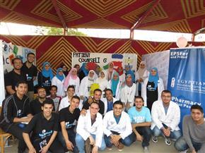 """الاتحاد المصري لطلاب الصيدلة بالمنصورة يبدأ أولى فعاليات مشروع """"فن نصح المريض"""""""