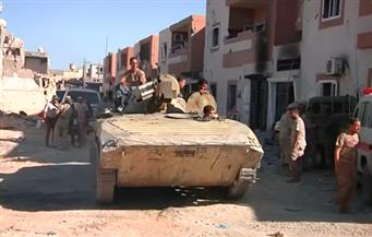 """بالفيديو.. القوات الليبية تتوغل في آخر محور تسيطر عليه """"داعش"""" في سرت"""
