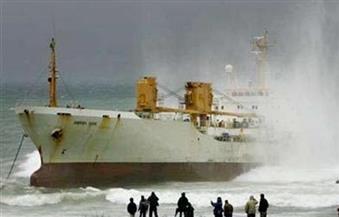 """جنوح السفينة """"Ropysto"""" بميناء الدخيلة  دون تأثير على حركة السفن"""