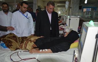 بالصور.. محافظ كفر الشيخ يتفقد وحدة الغسيل الكلوى بالمستشفى العام