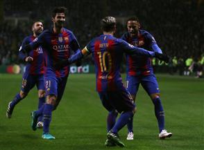 برشلونة يسحق مونشنجلادباخ برباعية نظيفة بدوري الأبطال.. وتعادل سيتي و سلتيك