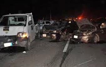 إصابة 6 أشخاص في حادث تصادم 7 سيارات بالطريق الدائري