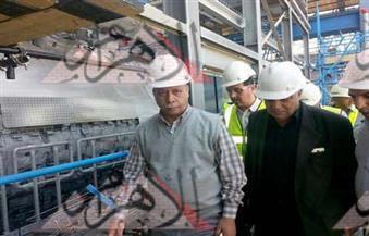 بالصور....ننشر البرنامج الزمنى للتشغيل.. وزير الكهرباء يتفقد محطة البرلس
