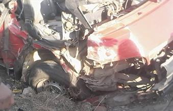 مصرع سيده وإصابة 11 آخرين في حادث انقلاب ميكروباص على طريق دمياط