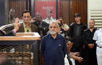 """بدء محاكمة بديع وآخرين في """"فض اعتصام رابعة"""""""