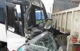 مصرع شخص وإصابة 9 بينهم 7 مجندون إثر حادث تصام لوري بكمين أمني في جنوب سيناء