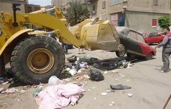 """حملة لرفع السيارات المتهالكة من طريق """"الأوتوستراد"""" في حي منشأة ناصر"""