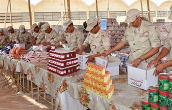 لليوم الثالث استمرار القوات المسلحة فى توزيع عبوات غذائية بنصف الثمن