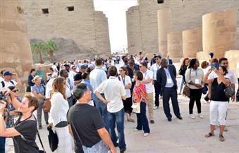 بالصور.. المشاركون في مؤتمر سياحة المدن بالأقصر يزورون المعالم الأثرية