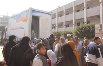 """بالصور.. الكشف عن فيروس """"C"""" لـ 650 مواطنًا بقافلة طبية من جامعة طنطا فى قرية """"نجريج"""""""