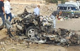 """بالصور.. مصدر أمني: السيارة المفخخة بمدينة نصر""""ملاكي الإسكندرية"""" وغير مبلغ بسرقتها"""