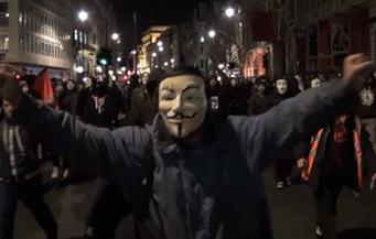 """اعتقال 10 أشخاص على الأقل في مظاهرة """"المليون قناع"""" وسط لندن"""
