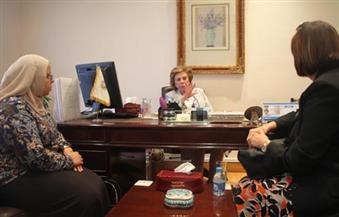 التلاوي تلتقي بالقليني لمناقشة سبل التعاون فيما يخص قضايا المرأة وصورتها في الإعلام