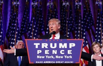 """المرشح الجمهوري ترامب يعلن فوزه برئاسة الولايات المتحدة الأمريكية ويصف حملته بأنها """"حركة عظيمة"""""""