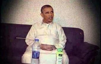 """صورة أوباما بجلباب مرشد الإخوان تُثير عاصفة من السخرية على """"فيسبوك"""""""
