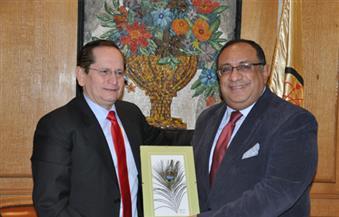 بالصور.. سفير الأكوادور في ضيافة جامعة حلوان