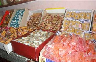 ضبط 72 طن حلوى المولد و13 طن لحوم وسلع غذائية غير صالحة للاستهلاك