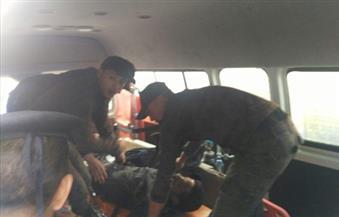 """بالصور.. إصابة فرد أمن مركزي بإغماء أثناء تأمين محيط """"انفجار الكاتدرائية"""""""