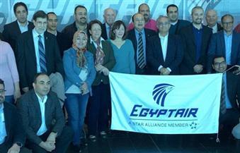 """بالصور.. مطار الغردقة يستقبل علماء """"مصر تستطيع"""".. وبدء التجهيزات الرسمية للمؤتمر"""