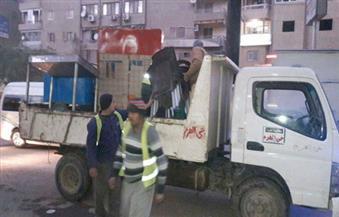 بالصور.. حي الهرم يواصل رفع الإشغالات بفيصل والمريوطية