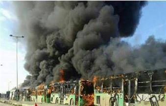 بالصور.. حرق 6 حافلات إجلاء في كفريا والفوعة يهدد اتفاق السماح بمغادرة المدنيين المحاصرين بحلب