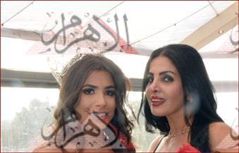 بالصور.. ملكة جمال مصر تُشارك في حفل خيري لصالح أطفال أبو الريش