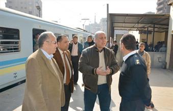 بالصور.. رئيس مترو الأنفاق والعضو المنتدب يتفقدان محطة المرج الجديدة