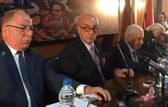 """بالصور.. """"النمنم"""" في افتتاح صالون """"الأهرام"""": التيار السلفي المتشدد خطر على حرية الإبداع"""