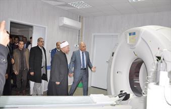 بالصور.. مفتي الديار المصرية في جولة تفقدية للمستشفى الجامعي بجامعة كفر الشيخ
