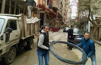 بالصور.. حي العمرانية ينفذ حملة على المباني المخالفة بالطالبية