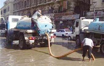 الدفع بـ93 سيارة لشفط مياه الأمطار بالإسكندرية